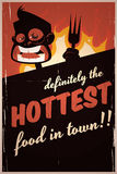 Hottest Food in Town Sign Stock Photo