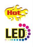 Hottest led logo Stock Images