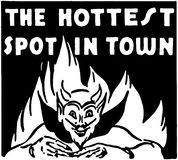 The Hottest Spot In Town Royalty Free Stock Image