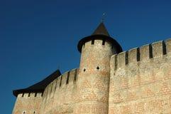 hotyn старая Украина замока Стоковое Фото