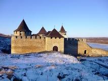 Hotyn Festung, Westukraine Lizenzfreie Stockbilder