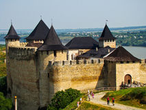 Hotyn Festung, Westukraine stockbild