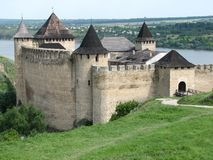 Hotyn fortress Stock Photos