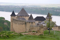 Hotyn fortress. View of Hotyn fortress, Western Ukraine Royalty Free Stock Photos