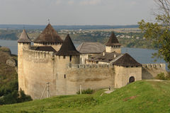 hotyn Ukraine de forteresse occidentale Photos libres de droits