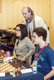 Hou Yifan. Professional chess player China, Playing chess tournament Gibraltar Tradewise Festival in January and February 2015. It is an editorial image royalty free stock photos