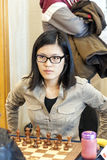 Hou Yifan. Professional chess player China, Playing chess tournament Gibraltar Tradewise Festival in January and February 2015. It is an editorial image royalty free stock photography