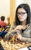 Hou Yifan. Professional chess player China, Playing chess tournament Gibraltar Tradewise Festival in January and February 2015. It is an editorial image royalty free stock photo