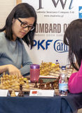 Hou Yifan. Professional chess player China, Playing chess tournament Gibraltar Tradewise Festival in January and February 2015. It is an editorial image royalty free stock image
