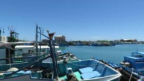 Houbihu-Fischen-Hafen in Taiwan stock video footage