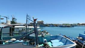 Houbihu fiskehamn i Taiwan stock video