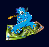 Houblon bleu de hanche du DJ de monstre illustration libre de droits