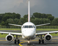 HOUBLON d'Embraer E145 ! Par Air France Images libres de droits