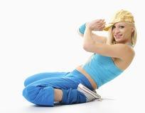 Houblon de gratte-cul de danse de jeune femme Photos stock
