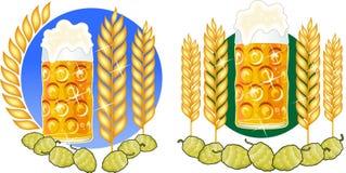 Houblon en verre de bière Image stock