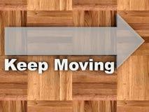 Houd bewegend vector illustratie