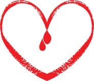 Houd bloed van daling Stock Afbeelding