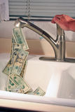Houd de stroom van geld tegen! Stock Fotografie