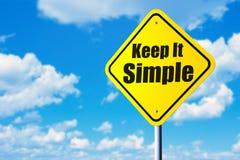 Houd het Eenvoudig stock fotografie
