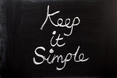 Houd het Eenvoudig stock afbeelding