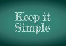 Houd het eenvoudig bericht Stock Foto