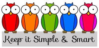 Houd het eenvoudig en slim Stock Foto