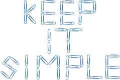 Houd het eenvoudige blauwe paperclippen Royalty-vrije Stock Foto