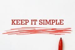 Houd het eenvoudige rubriek stock afbeelding