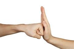 Het gebaar van handen. Stock Fotografie