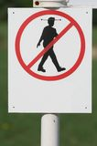 Houd het gras op een afstand! Stock Fotografie