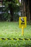 Houd het Gras op een afstand Royalty-vrije Stock Afbeelding