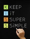 Houd het Super Eenvoudig Royalty-vrije Stock Foto