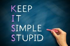 Houd het Super Eenvoudig stock afbeelding