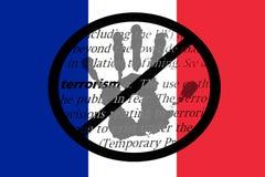 Houd het terrorisme in Frankrijk tegen Royalty-vrije Stock Fotografie