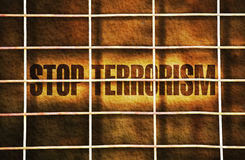 Houd het terrorisme tegen Stock Foto