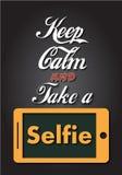Houd Kalm en neem een Selfie Royalty-vrije Stock Fotografie