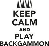 Houd kalm en speel Backgammon Royalty-vrije Stock Fotografie