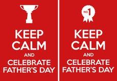 Houd Kalm en vier Vaderdag Stock Illustratie