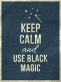 Houd kalm magisch citaat Royalty-vrije Stock Foto's