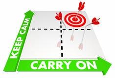 Houd Kalme en Carry On Stay Cool Saying-Matrijs vector illustratie