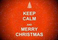 Houd kalme en Vrolijke Kerstmis Stock Foto's