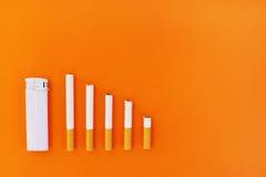 Houd met op rokend en bespaar geld Royalty-vrije Stock Afbeeldingen