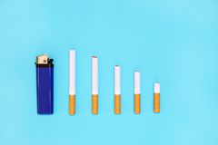 Houd met op rokend en bespaar geld Royalty-vrije Stock Afbeelding