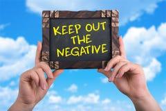 Houd negatief weg royalty-vrije stock foto