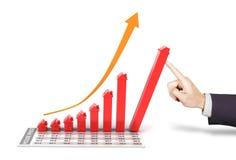 Houd onroerende goederenmarkt het groeien Royalty-vrije Stock Afbeeldingen