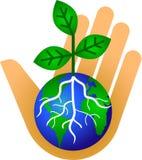 Houd Onze Aarde/eps Groen Stock Afbeeldingen