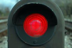 Houd Rode Trein 2 tegen Royalty-vrije Stock Afbeelding