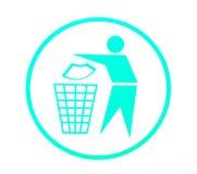 Houd schoon symbool stock illustratie