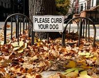 Houd Uw Teken van de Hond in bedwang Stock Fotografie