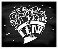 Houd van de wereld maar vrees voor dood Stock Foto's